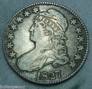 1827-Capped-Bust-Half-Dollar-Fantastic-Silver-Coin-LIBERTY-Early-Years-52173
