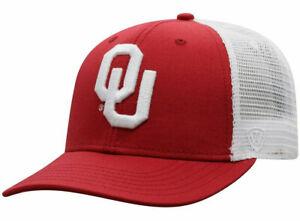 OKLAHOMA-SOONERS-NCAA-TRUCKER-ADJUSTABLE-2-TONE-SNAPBACK-CAP-HAT-NWT-FOOTBALL