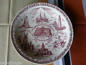 Vintage Mid Century Vernon Kilns Plate North Carolina Plate