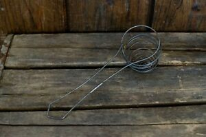 Vtg-Antique-Primitive-Farm-Kitchen-Tool-Wire-Egg-Mixer-Beater-Whisk