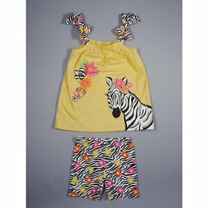 Nwt yellow zebra swing tunic amp shorts spring summer baby girls clothes