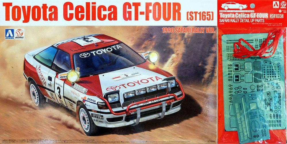 Jugueteota Celica Gt-Four 1990 Safari Rally + Detalle Up Partes 1 24 Modelo Conjunto