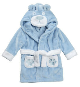 Image is loading Embroidered-Personalised-Soft-Baby-Dressing-Gown-Bath-Robe- b265ce538