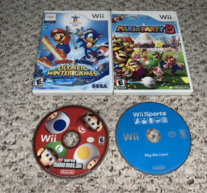New-Super-Mario-Bros-Party-8-Sonic-Olympic-Games-Wii-Sports-Nintendo-Wii-Lot