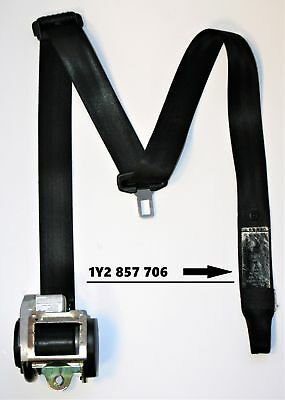 VW Beetle Convertible Seat Belt Drivers Side Front Right Black 1Y2857706