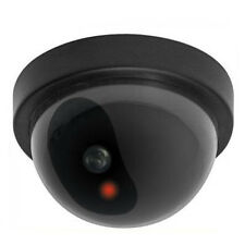 Dummy Fake Security Dome Camera Theft Trespasser Deterrent Blinking Red Light