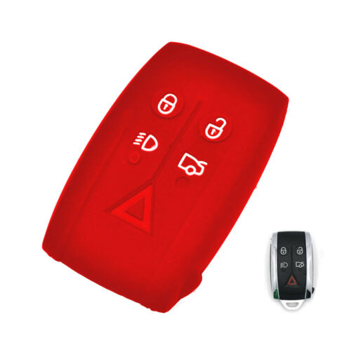 5 BTNS Silicone Skin Cover Remote Key Shell Holder For Jaguar X S-Type XF XK XKR