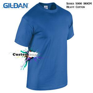 Gildan-T-SHIRT-Royal-Blue-Basic-tee-S-5XL-Small-Big-Men-039-s-Heavy-Cotton