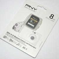 Pny 8g Sdhc Sd Card For Panasonic Lumix Dmc-zs20 Fh6 Fh8 Fz47 Lx5 Ts3 Camera