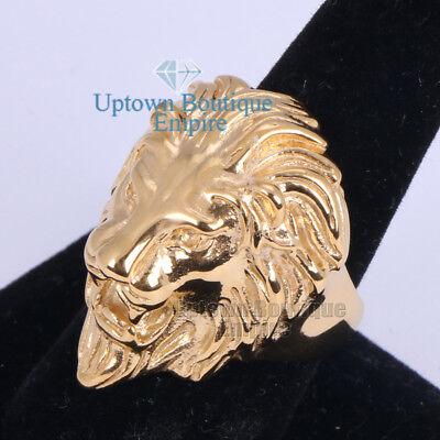 Men/'s Stainless Steel Black Lion King Leo Band Ring Size 8-13  #9