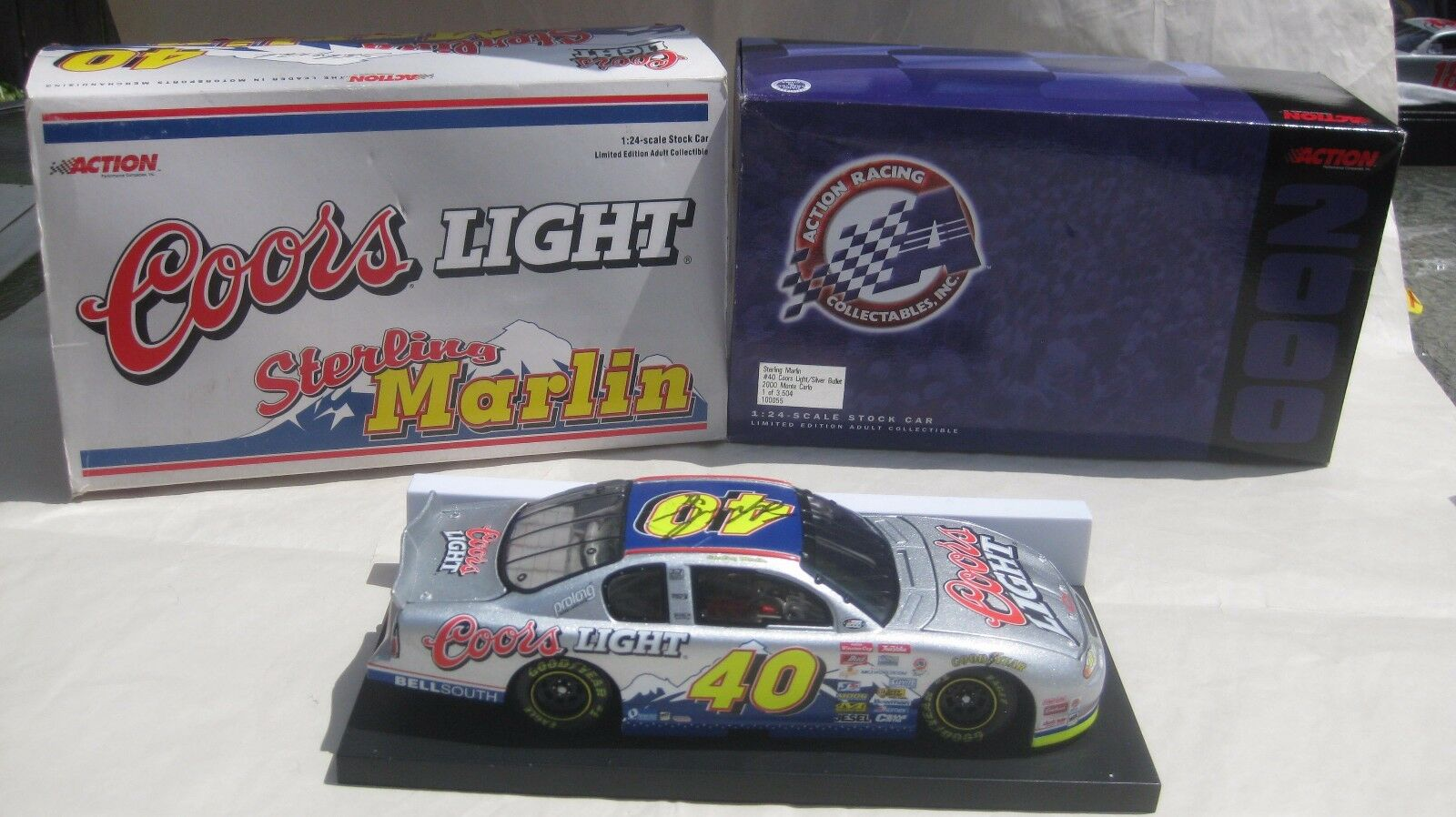 Rare Nascar Sterling Marlin Signed Coors Light Chevy 1 24 Scale Diecast 2000