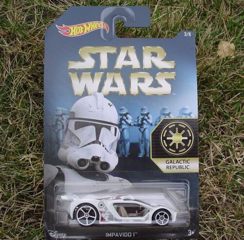 2015 Star Wars 3//8 GALACTIC REPUBLIC Hot Wheels IMPAVIDO 1 ~ DFV71 New SEALED!