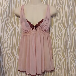 95d9fc374 Victoria s Secret SEXY LITTLE THINGS Pink Sheer Lace Babydoll ...
