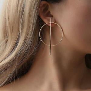 Women-Steampunk-Style-Geometric-Big-Circle-Round-Gold-Plated-Hoop-Earrings-W