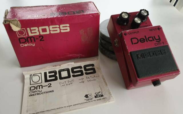 Boss DM-2 Delay Pedal from 1983 with Box & Instructions