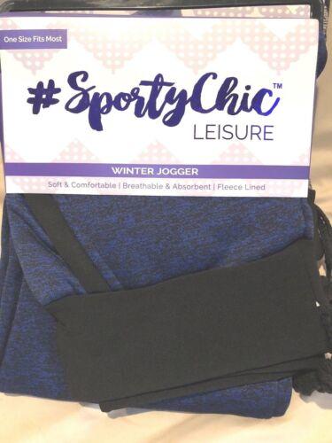 #Sporty Chic Leisure Winter Joggers OSFM Fleece Lined w//pockets NEW