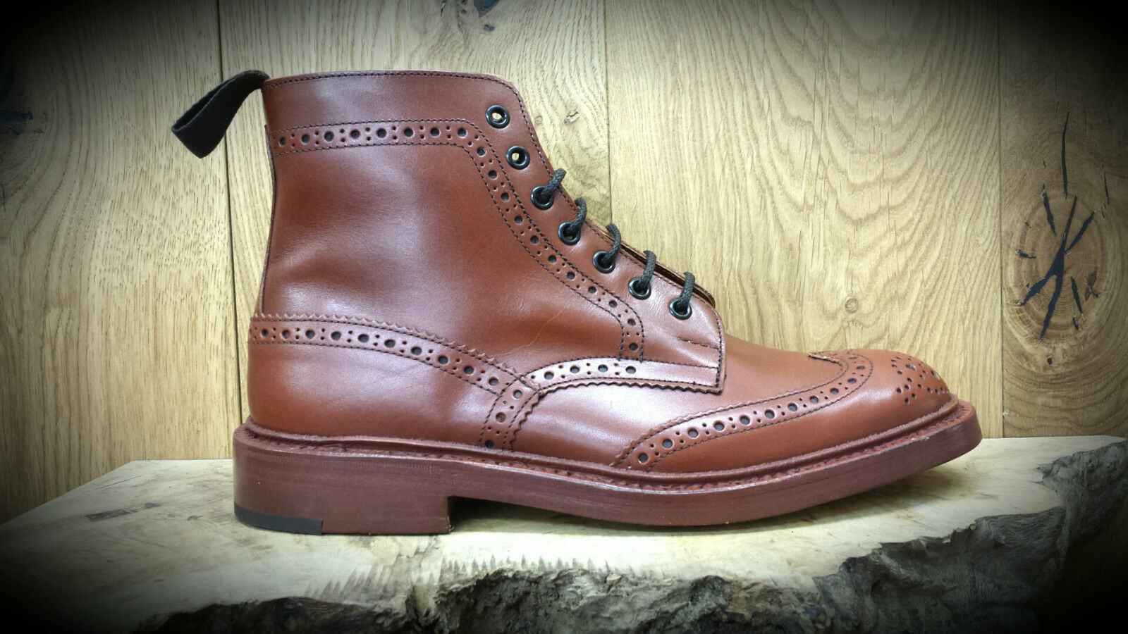 TRICKERS: Stow Antique botas (Style 5634/1) Marron Antique Stow Talla 11 NOW REDUCED dcb759