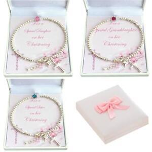 Details Zu Mädchen Taufe Armband Mit Birthstone Geschenk Für Tochterpatenkind Etc