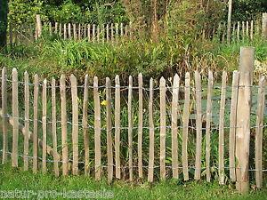 staketenzaun kastanie 75 cm hoch holzzaun gartenzaun
