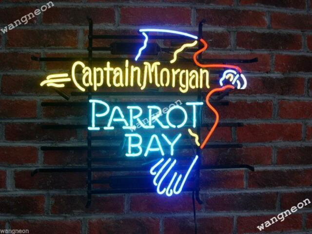 Captain morgan neon beer sign bar light 19x15 ebay 19x15 new captain morgan parrot bay beer bar real neon light sign free shipping aloadofball Image collections