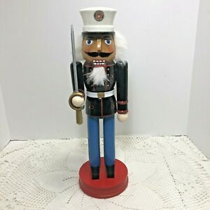 Marine-Corps-USMC-Wooden-Nutcracker-Dress-Blues-Sword-Collectible-14-Inches