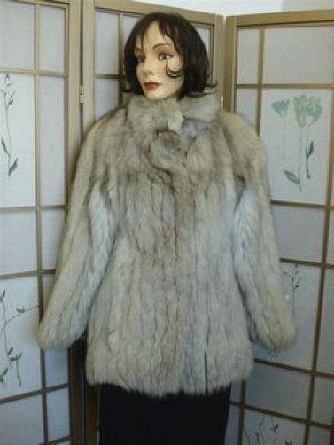 Muy Buen Abrigo de piel de zorro mujer  talla 2 Forro cambiado  varios tamaños
