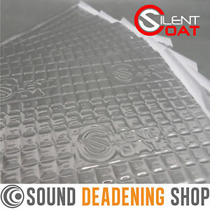 Silent Coat 2mm Pack 20 Sheets Car Van Sound Deadening Vibration Proofing Mat