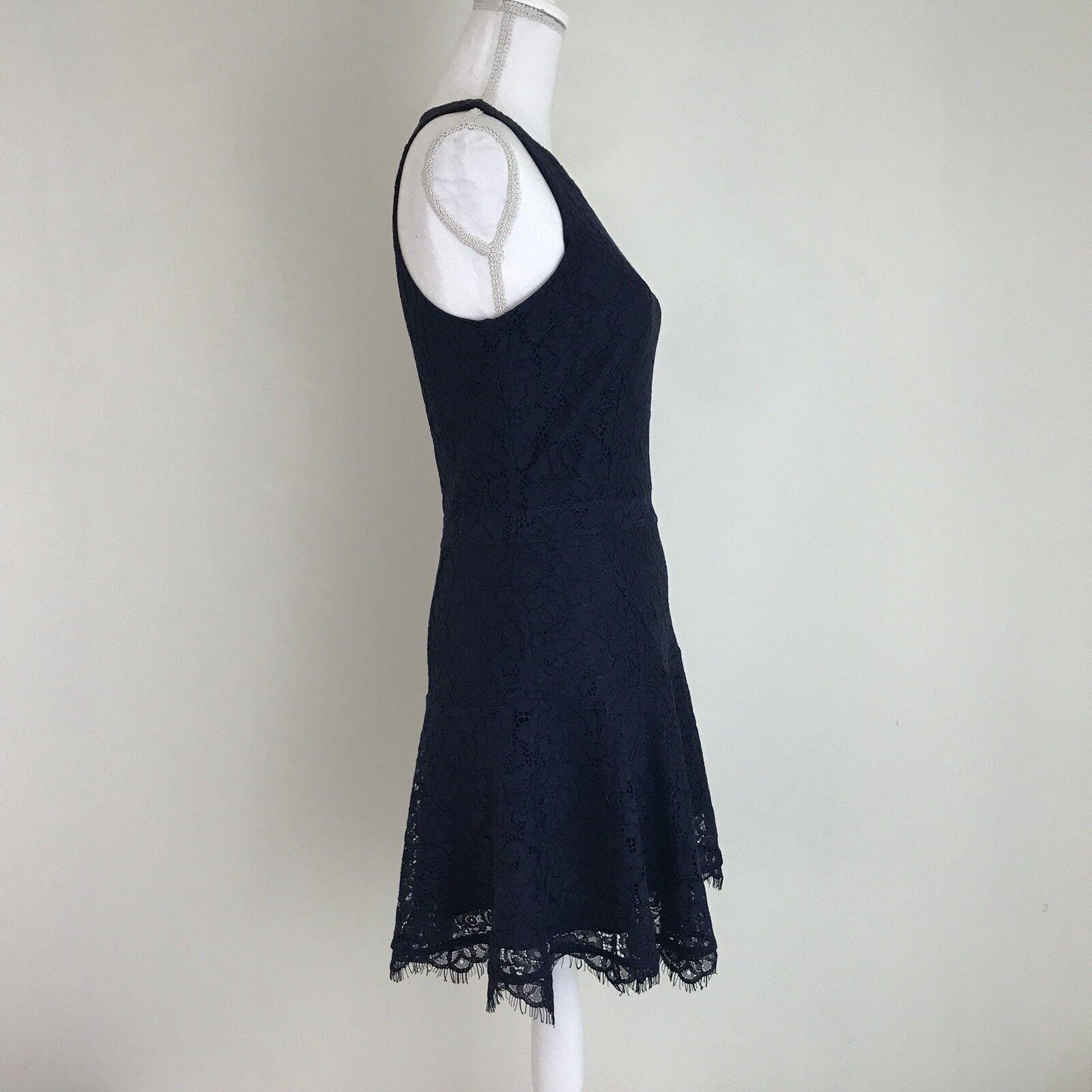 NEW JOIE WOMENS ADISA LACE DRESS DRESS DRESS Size 6 Navy bluee 8f8d5a