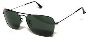 3da95e2855 Details about RAY BAN 3136 55 NEW CARAVAN 004 GUNMETAL SUNGLASSES  SUNGLASSES LUNETTES GREEN