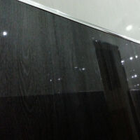 12 Black Wood Gloss Wall Panels - Interior Shower Wall Cladding Upvc Plastic