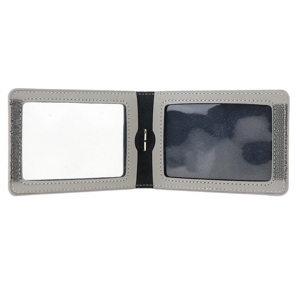 Porte-cartes vertical en cuir PU avec double badge