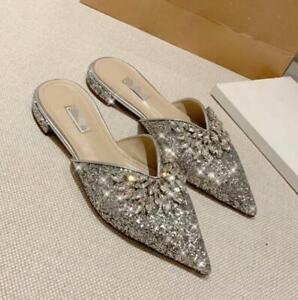 Women's Silver Rhinestones Sequins