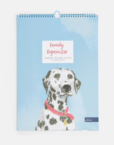 Joules A3 Family Organiser Calendar in Pawcasso in One Size