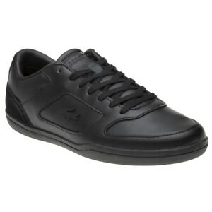 9c99595affb9 Image is loading New-Mens-Lacoste-Black-Court-Minimal-Leather-Trainers-