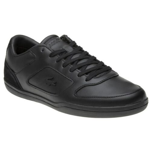 New Sneaker Mens minimal Leather Court Nero in pelle Lacoste rBqCr