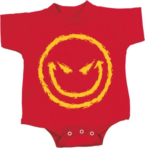Baby Romper Halloween Evil Smiley Face Creeper
