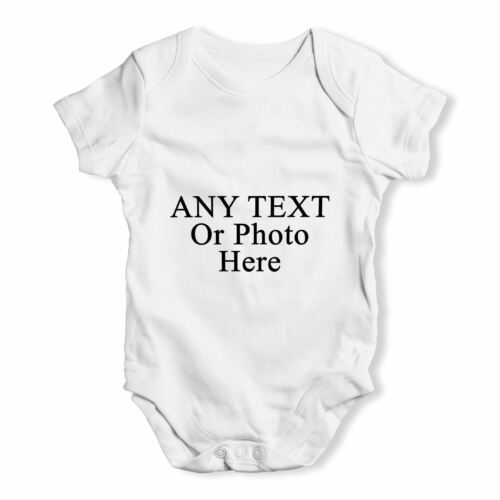 Personalised Design Your Own Wording Photo Baby Unisex Funny Baby Grow Bodysuit