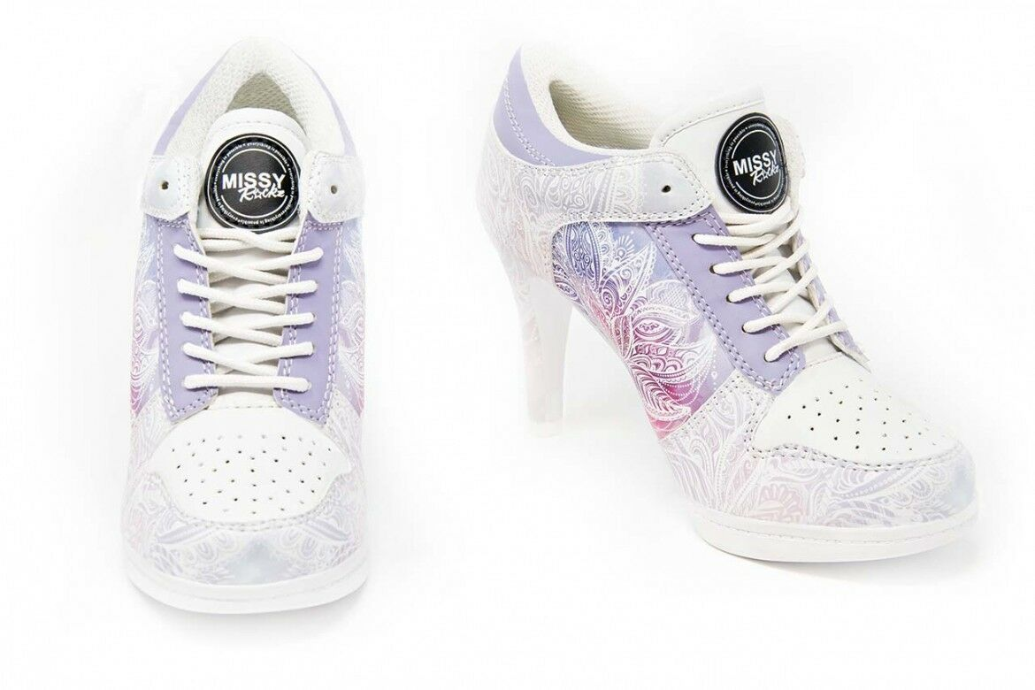 Missy rockz SPORT tacco alto wonderful Lotus White/Purple con con White/Purple 8,5 cm di paragrafo a49112