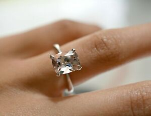 2Ct-Cushion-Brilliant-Cut-Morganite-Solitaire-Ring-Solid-14K-White-Gold-Finish