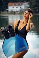 Freitauch Monoflosse Für Die Meerjungfrau Von Triton In Der Farbe Blau