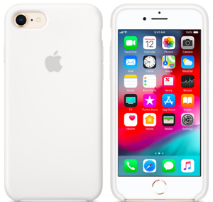 iPhone-8-7-SE-2020-4-7-Apple-Echt-Original-Silikon-Schutz-Huelle-White-Weiss