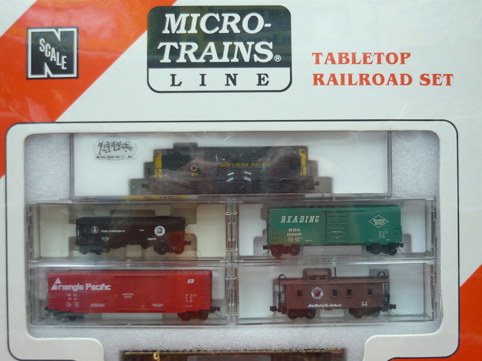 Northern Pacific Atlas RS-11 N Scale Micro-Trains Table Top Top Top Set NIB 45d63f