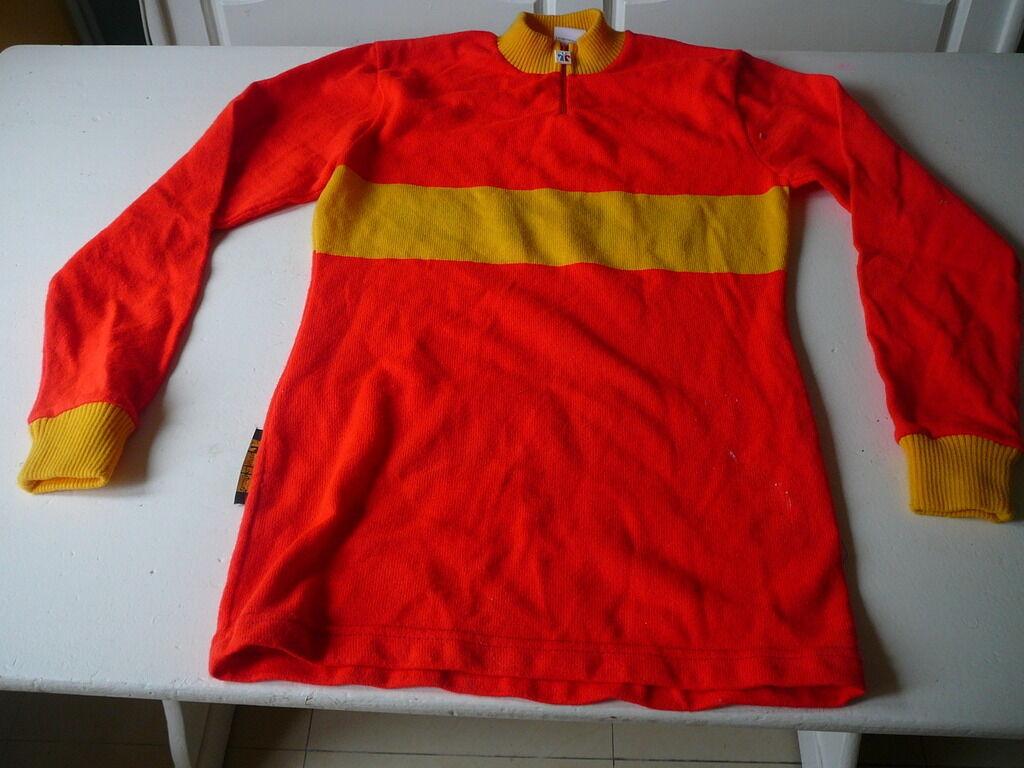 Fahrrad-Trikot vintage Tricot aus dem Felsen CCBM CCBM Felsen Bagnols Marcoule rot und gelb d5b900