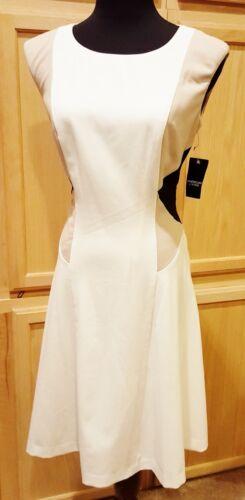Colorblck Lauren American Crepe mandorla Dress Cream Living ralph Colonial Stretch BqnxRxP1Yw