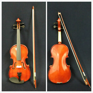 Brand-New-Caraya-3-4-Size-Violin-w-Spare-String-Set-Bow-Foam-Hard-Case-Rosin