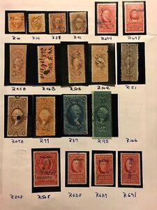 1862-1954-US-stamps-revenue-collection-used-Accumulation-Lot-CV-1638-H