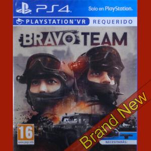Bravo-Team-Playstation-4-ps4-PSVR-Spiel-in-Englisch-Spanisch-Cover-Neu-amp-Versiegelt