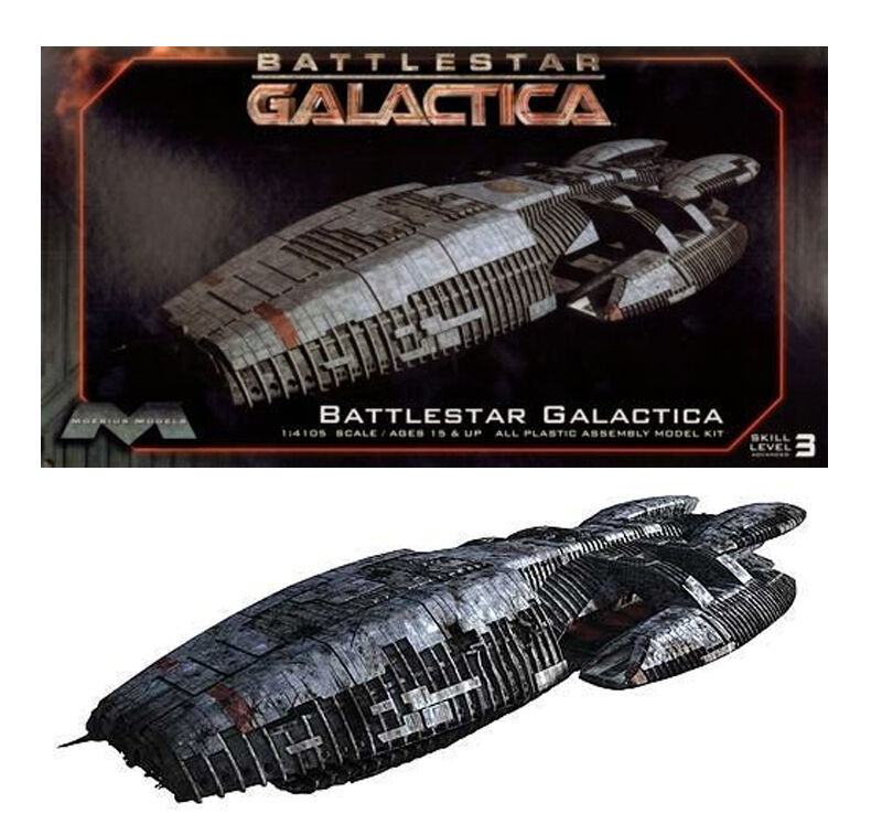 Battlestar Galactica Moebius Battleship Model Plastic Kit Sci-fi Glen Larson