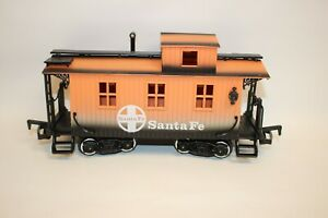 New Bright 1986 Santa Fe Caboose Toy Train Car G Gauge Scale Orange & Black