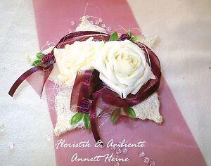 Tischdeko Tischdekoration Hochzeit Lotusblute Bordeaux Ebay